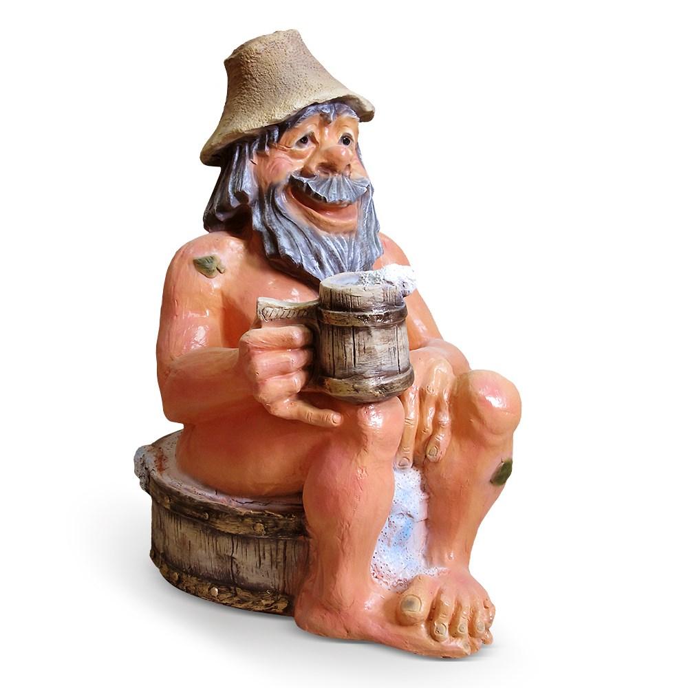Большая садовая фигура Банщик в тазу
