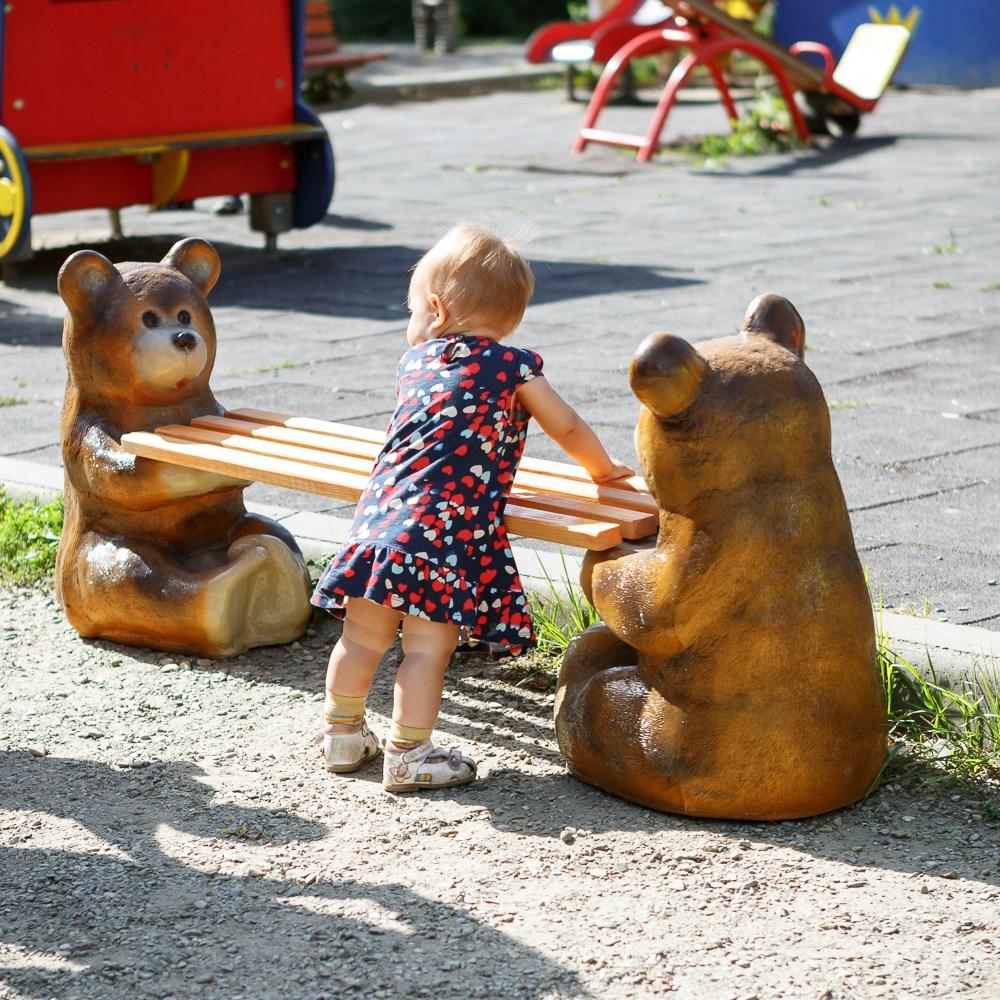 Скамейка садовая Медвежата