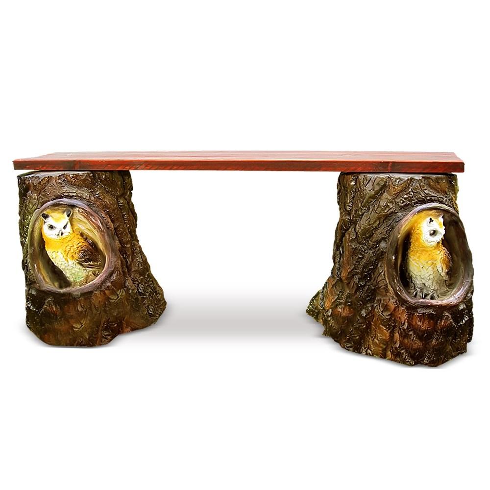 Дачная скамейка с совами