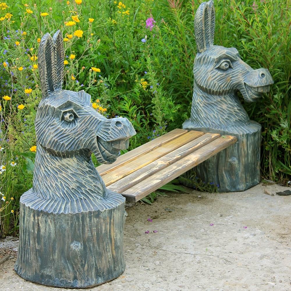 Скамейка для сада Ослики