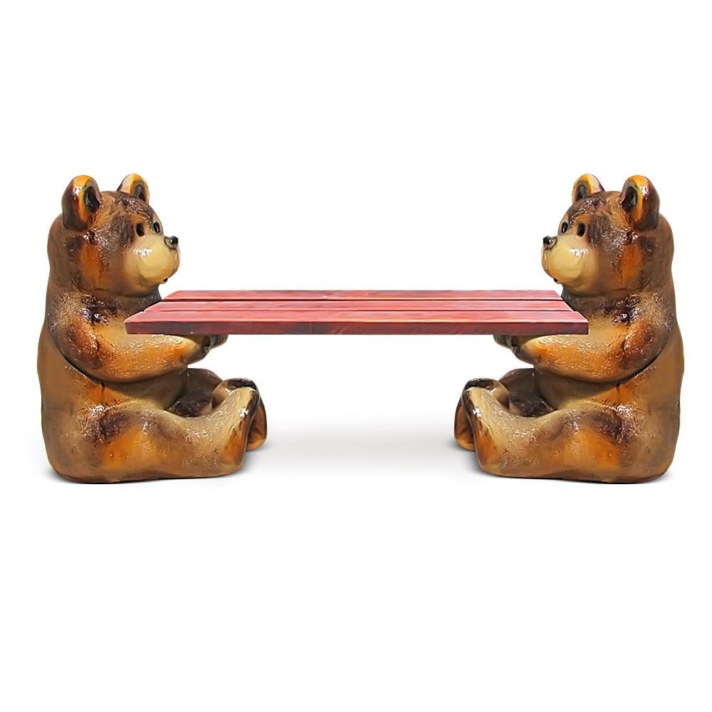 Садовая скамейка Медвежата