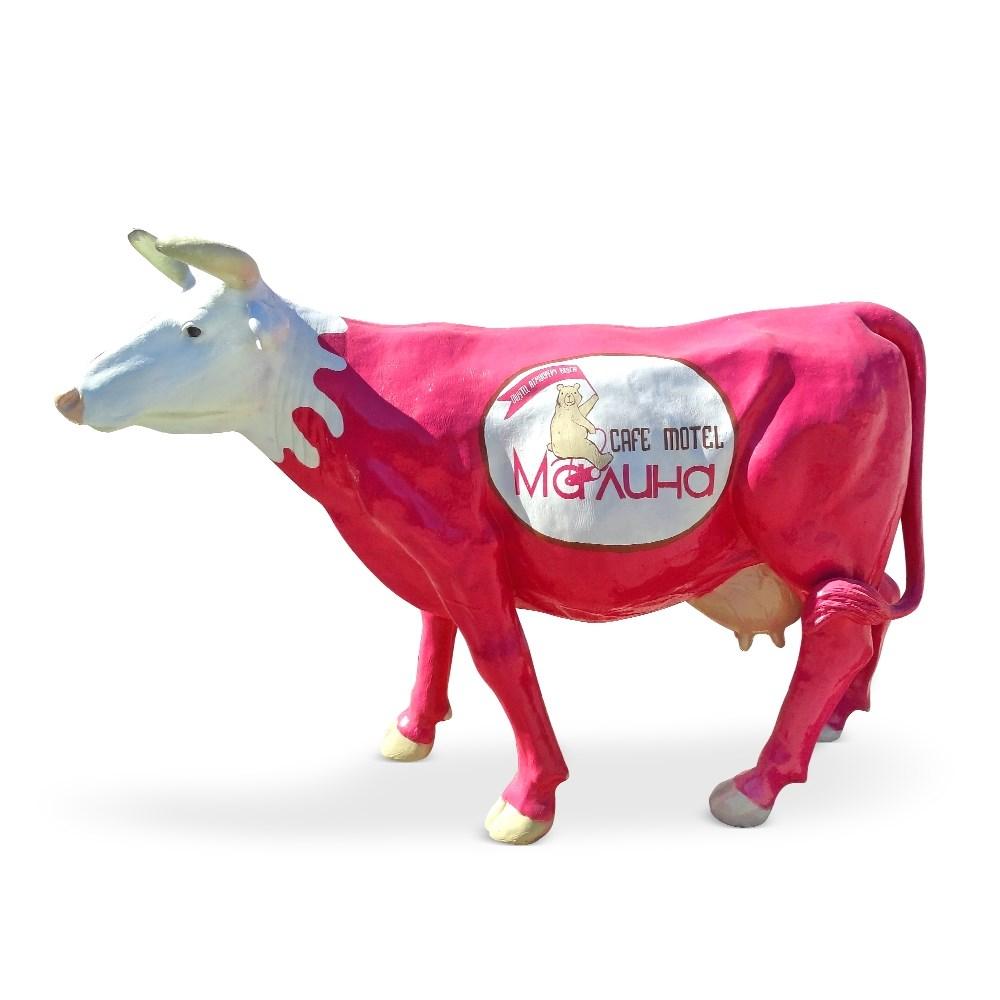 Корова с логотипом