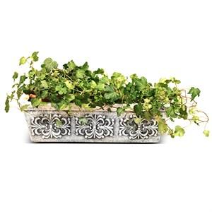 Кашпо для цветов с покраской под мрамор