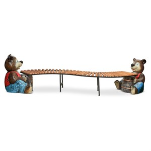 Лавка садовая медвежата