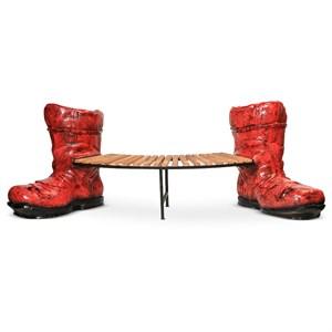 Детская скамейка сапоги