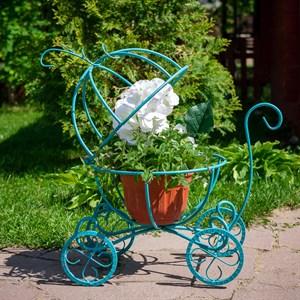 Подставка для цветов тыква-карета