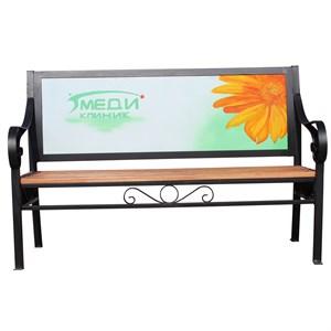 Рекламная скамейка