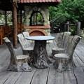 Садовая фигура стул пень