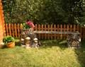Лавка с кашпо Дом Гномов - фото 17363