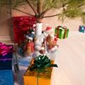 Подставка под елку Дед Мороз с мешком - фото 17515