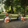 Скамейка для парка ежи
