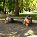 Уличная скамейка ежи