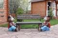 Скамейка детская медведи