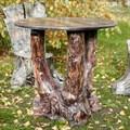 Стол садовый из полистоуна фото