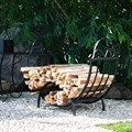 Садовая дровница из металла