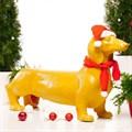 Фигура собака новогодняя