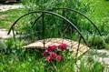 Мостик кованый для сада